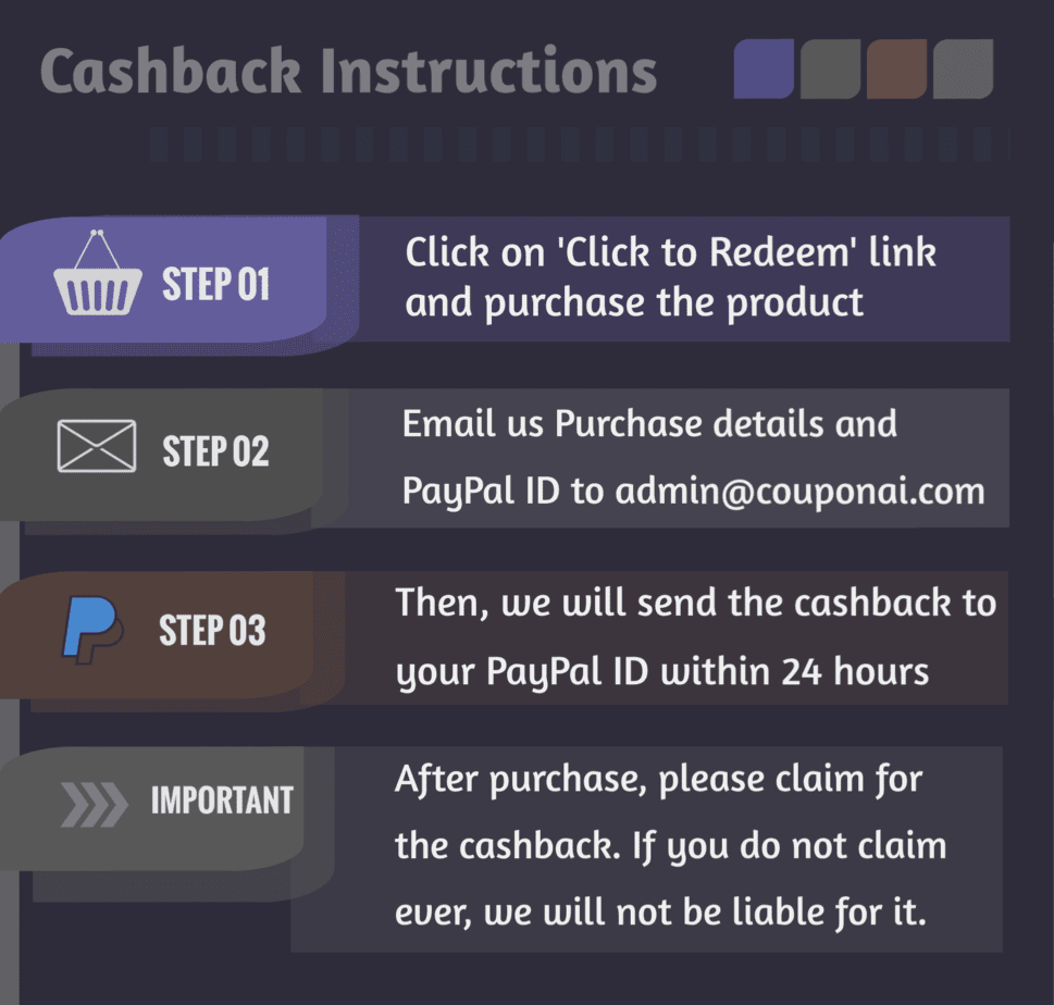 Cashback Instruction